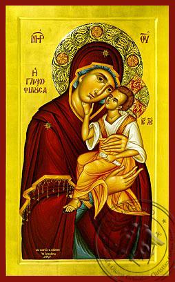 Panagia The Glykophilousa  - Byzantine Icon