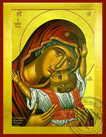 Panagia The Glykophilousa  Kardiotissa - Byzantine Icon