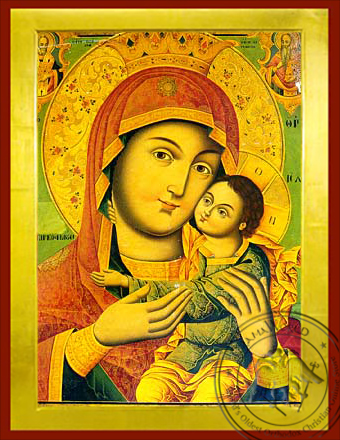 Virgin and Child, Sweet Kissing, Post byzantian, Bust - Byzantine Icon