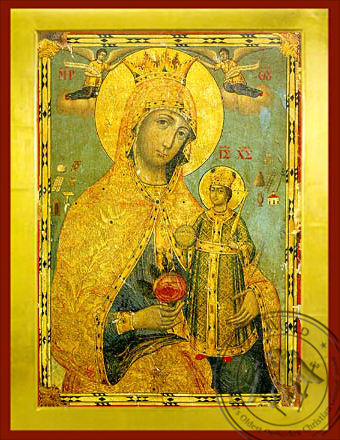 The Unwithering Rose - Byzantine Icon