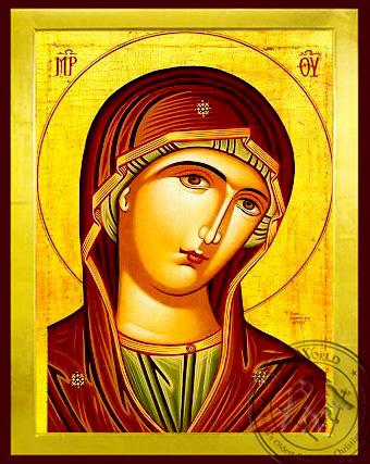 Virgin, Matron, Bust - Byzantine Icon
