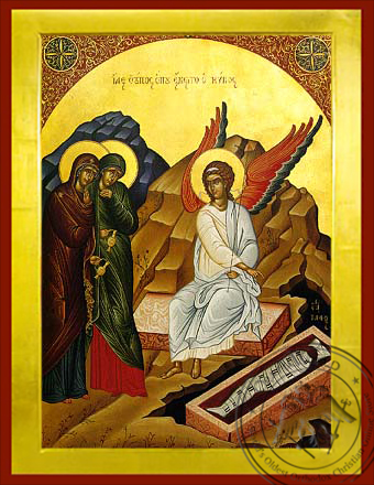 Women at the Tomb - Byzantine Icon