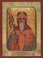 Aaron the Prophet - Aged Byzantine Icon