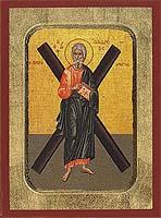 Andrew the Apostle - Aged Byzantine Icon