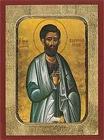 Bartholomew the Apostle - Aged Byzantine Icon