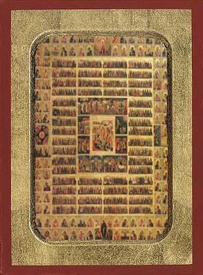 Feast Calendar - Aged Byzantine Icon