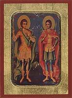 Holy Martyrs Sergios & Vakhos - Aged Byzantine Icon