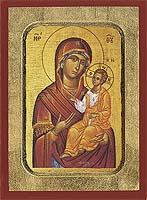 Panagia Grhgorousa - Aged Byzantine Icon