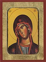Panagia In Grief - Aged Byzantine Icon