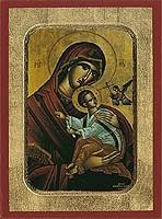 Panagia of Passion - Aged Byzantine Icon