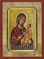 Panagia The Myrtidiotissa - Aged Byzantine Icon