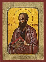 Paul the Apostle - Aged Byzantine Icon