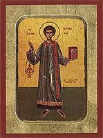 Prochoros the Apostle - Aged Byzantine Icon