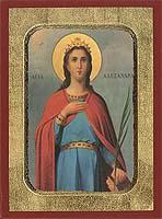 Saint Alexandra - Aged Byzantine Icon