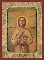 Saint Alexios - Aged Byzantine Icon