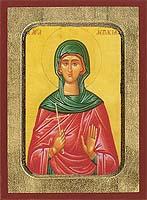 Saint Aspasia - Aged Byzantine Icon