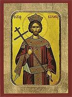 Saint Constantine - Aged Byzantine Icon