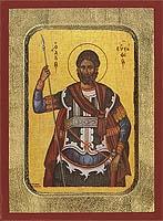 Saint Eustathios - Aged Byzantine Icon