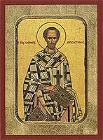 Saint John Chrysostom - Aged Byzantine Icon