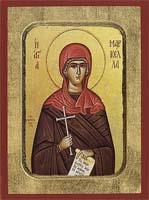 Saint Markella - Aged Byzantine Icon