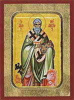 Saint Modestos - Aged Byzantine Icon