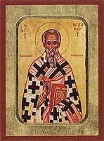 Saint Nikephoros - Aged Byzantine Icon