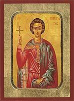 Saint Panagiotes - Aged Byzantine Icon