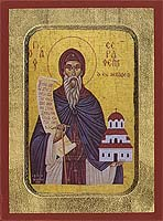 Saint Seraphim of Levadia - Aged Byzantine Icon