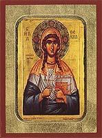 Saint Thekla - Aged Byzantine Icon