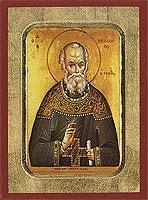 Saint Theodore Stoudites - Aged Byzantine Icon
