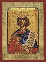 Solomon the Prophet - Aged Byzantine Icon