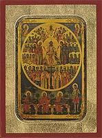 Sunday of All Saints - Aged Byzantine Icon