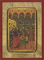 Sunday of paralytic - Aged Byzantine Icon