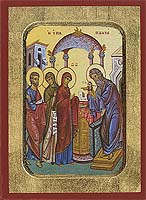 The Presentation of Christ in the Temple - Aged Byzantine Icon