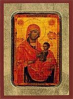 Virgin Eleousa - Aged Byzantine Icon