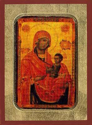 Virgin Eleousa - Aged Byzantine Icon