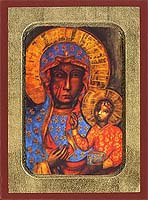 Virgin of Poland - Aged Byzantine Icon