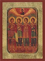 Ananias, Azarias, Misael & Daniel Prophet - Hand-Painted Icon