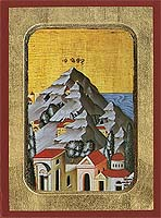 Mount Athos - Hand-Painted Icon