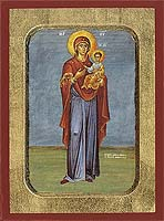 Panagia The Hodegetria (standing) - Hand-Painted Icon
