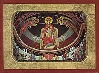 Panagia The Platytera Enthroned - Hand-Painted Icon