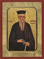 Saint Cosmas of Aetolia - Hand-Painted Icon