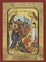 Saint Lazarus Raising - Hand-Painted Icon