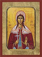 Saint Loucia - Hand-Painted Icon