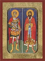 Saint Menas and Eustratios - Hand-Painted Icon