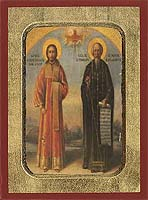 Saint Nikanor & Symeon the new Theologian - Hand-Painted Icon