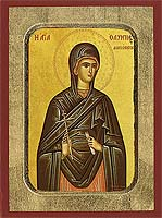Saint Olympias - Hand-Painted Icon