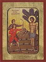 Saint Sevastianos the Martyrdom - Hand-Painted Icon