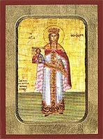 Saint Theodora the Empress of Byzantium - Hand-Painted Icon