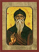 Saint Theodosios the Cenoviarch - Hand-Painted Icon